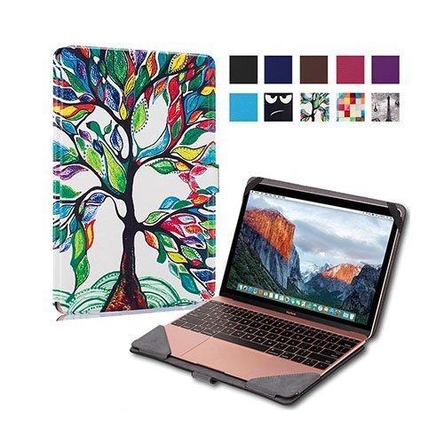 """Moberg Apple Macbook 13.3"""" Taittuva Pu Nahkakotelo Värikäs Puu Maalaus"""