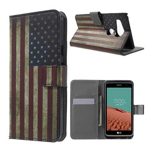 Moberg Google Nexus 5x Nahkakotelo Vanhanaikainen Amerikan Lippu