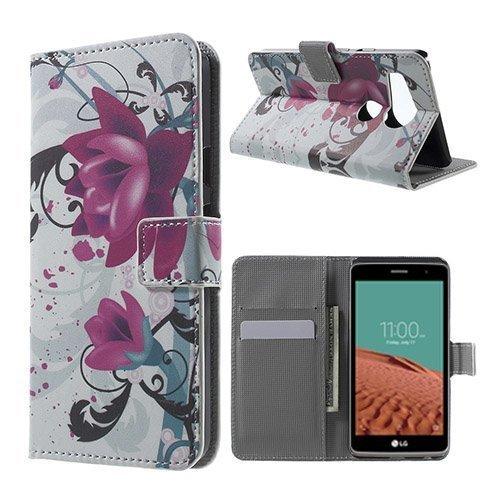 Moberg Google Nexus 5x Nahkakotelo Violetteja Kukkia