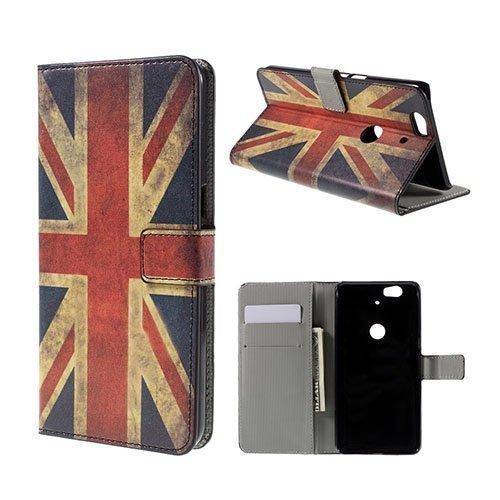 Moberg Google Nexus 6p Nahkakotelo Vanhanaikainen Britannian Lippu
