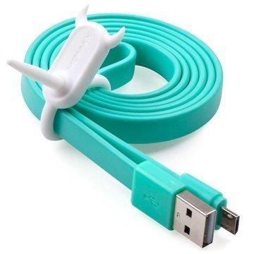 Momax Go Link USB 2.0 / MicroUSB Lattakaapeli Sininen