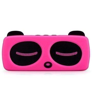 Momax Music Panda Bluetooth Kaiutin Kuuma Pinkki