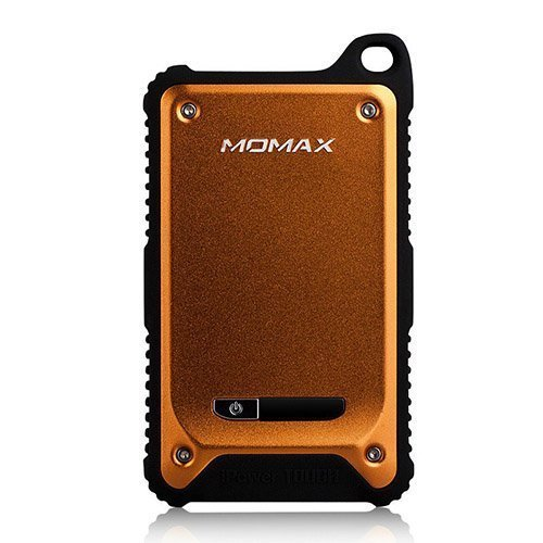 Momax Oranssi Iskun- Ja Vedenkestävä Varavirtalähde Älypuhelimille Kahdella Ulostulolla