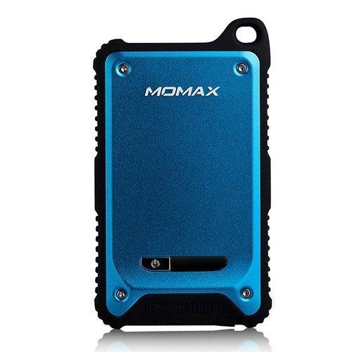 Momax Sininen Iskun- Ja Vedenkestävä Varavirtalähde Älypuhelimille Kahdella Ulostulolla