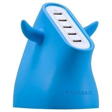 Momax U.Bull Erittäin Nopea USB Laturi 5-Porttinen Sininen