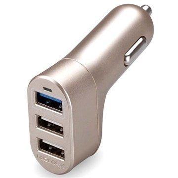 Momax XC Series Autolaturi 3 USB-Porttia 4.4 A Kulta