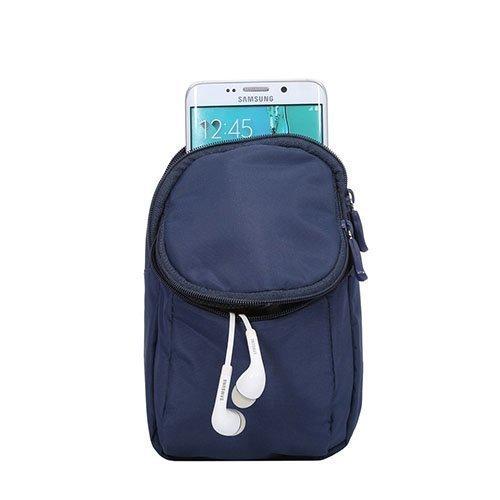 Monikäyttöinen 2-Osastoinen Käsihina Laukku Älypuhelimille Tummansininen