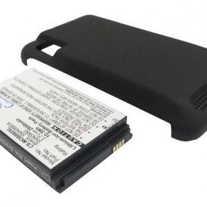 Motorola MB860 tehoakku erillisellä laajennetulla takakannella 2800 mAh