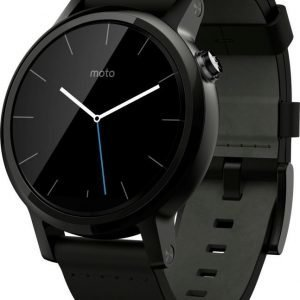 Motorola Moto 360 (2nd gen) 42 mm Black Leather
