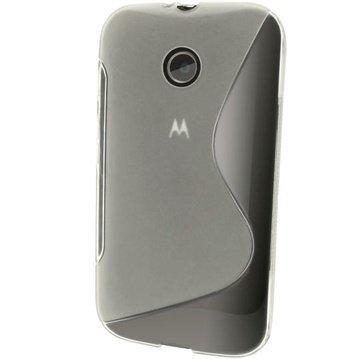 Motorola Moto E Moto E Dual iGadgitz S-Line TPU-Suojakotelo Solid Kirkas
