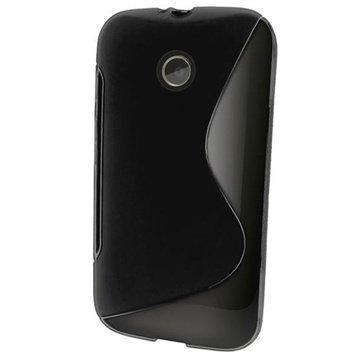 Motorola Moto E Moto E Dual iGadgitz S-Line TPU-Suojakotelo Solid Musta