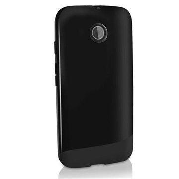 Motorola Moto E Moto E Dual iGadgitz TPU-Suojakotelo Solid Musta
