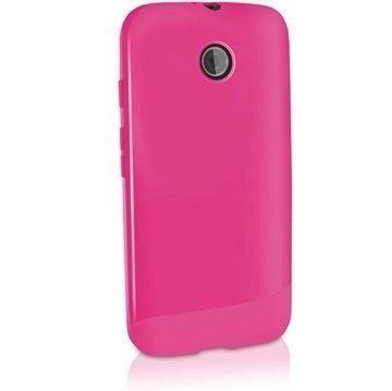 Motorola Moto E Moto E Dual iGadgitz TPU-Suojakotelo Solid Pinkki