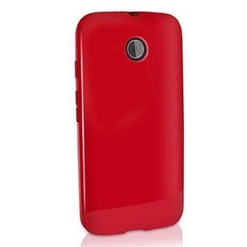 Motorola Moto E Moto E Dual iGadgitz TPU-Suojakotelo Solid Punainen