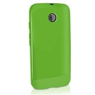 Motorola Moto E Moto E Dual iGadgitz TPU-Suojakotelo Solid Vihreä