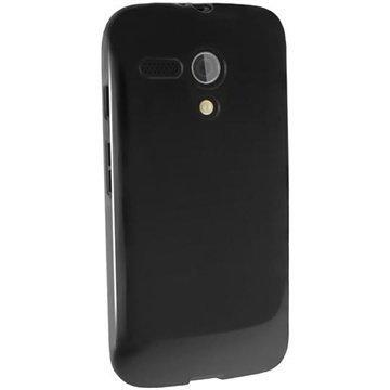 Motorola Moto G 4G iGadgitz TPU-Suojakotelo Solid Musta