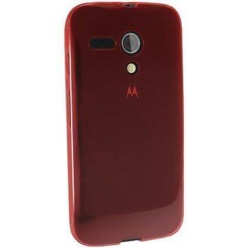 Motorola Moto G 4G iGadgitz TPU-Suojakotelo Transparent Punainen