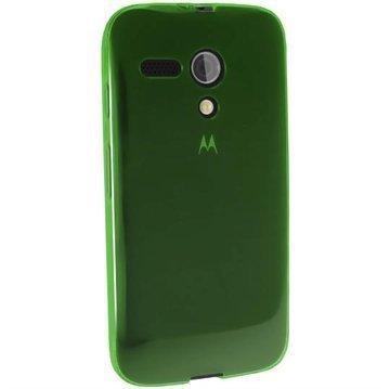 Motorola Moto G 4G iGadgitz TPU-Suojakotelo Transparent Vihreä