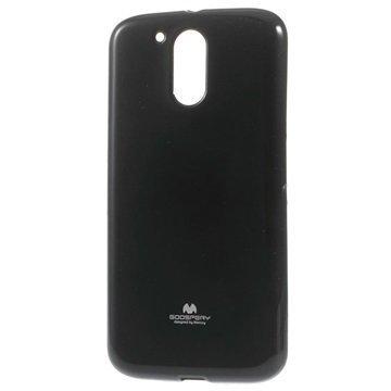 Motorola Moto G4 Moto G4 Plus Mercury Goospery TPU Kotelo Musta