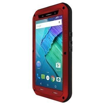 Motorola Moto X Style Love Mei Powerful Hybrid Suojakuori Punainen