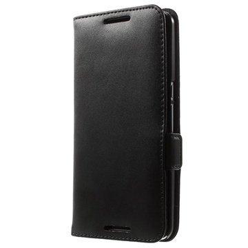 Motorola Nexus 6 Doormoon Nahkainen Lompakkokotelo Musta