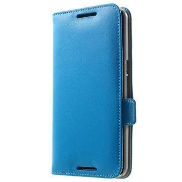 Motorola Nexus 6 Doormoon Nahkainen Lompakkokotelo Sininen