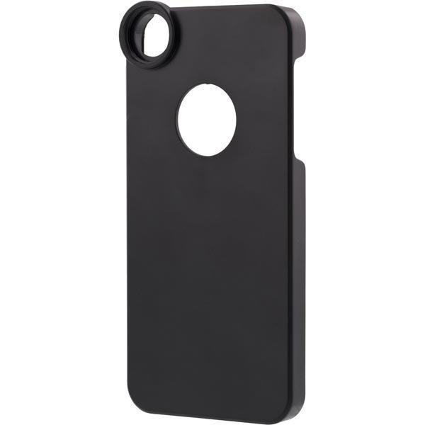 Muovikuori iPhone 5/5S puhelimelle jossa paikka objektiiville musta