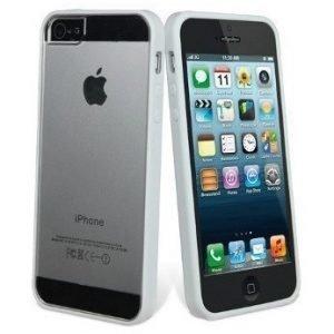 Muvit Bimat for iPhone 5 White/Transparent