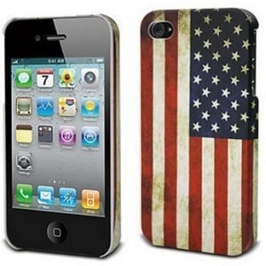 Muvit Hard Cover for iPhone 4S USA flag