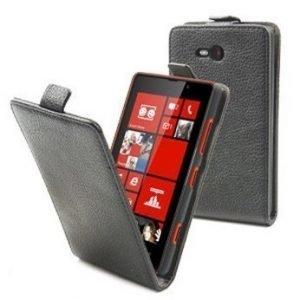 Muvit Slim Flip Case for Nokia Lumia 820 Black