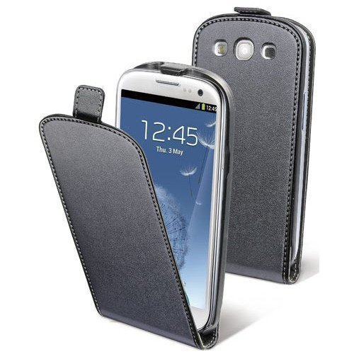 Muvit Slim Flip Case for Samsung Galaxy SIII Black