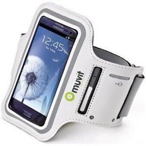 Muvit Sportarmband Smartphone XL for Samsung Galaxy SIII (136.6 x 70.6 x 8.6 mm) White