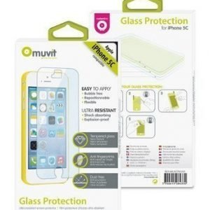 Muvit Tempered Glass Screen Protector for iPhone 5C