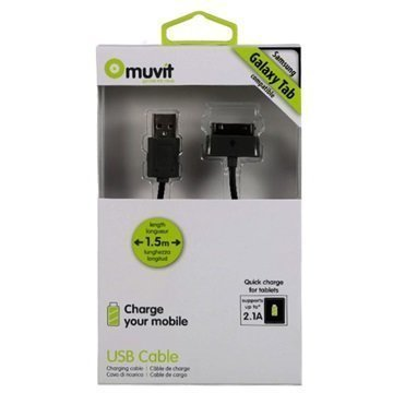 Muvit USB / 30-pin Cable for Samsung Galaxy Tab 1.5m
