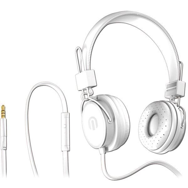 Native Sound NSH-1 over-ear headset litteä kaapeli 1 5m valk