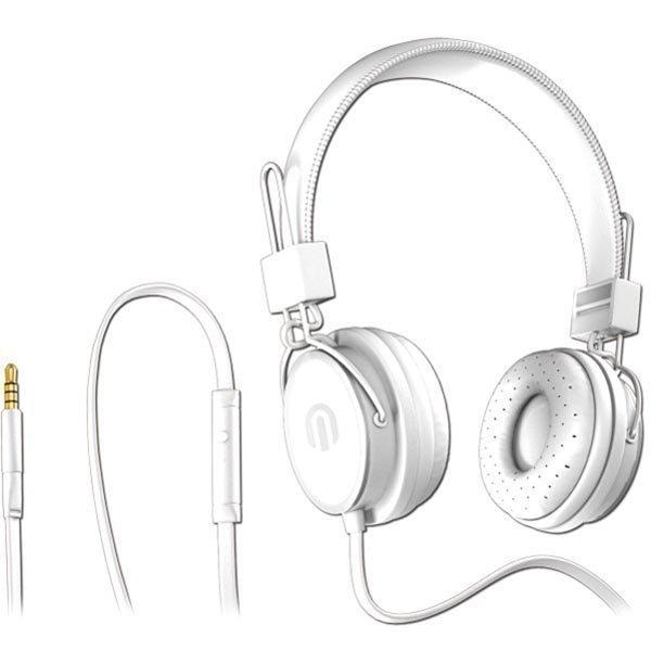 Native Sound NSH-1 over-ear headset litteä kaapeli 1 5m valk