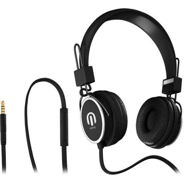Native Sound NSH-1 over-ear headset litteä kaapeli1 5m musta