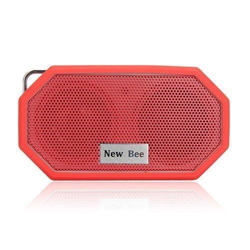 New Bee Langaton Bluetooth Kaiutin Mikrofonilla Punainen