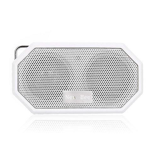 New Bee Langaton Bluetooth Kaiutin Mikrofonilla Valkoinen