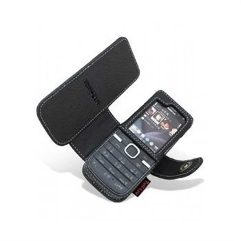 Nokia 6730 Classic Nahkakotelo Musta