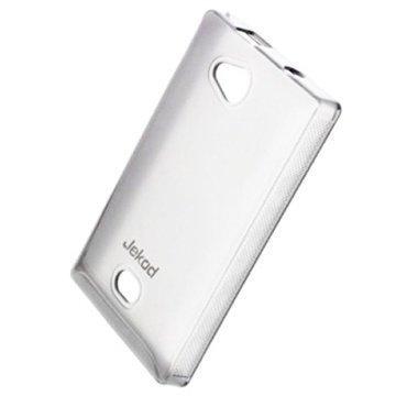 Nokia Asha 503 Jekod TPU-Kotelo Valkoinen