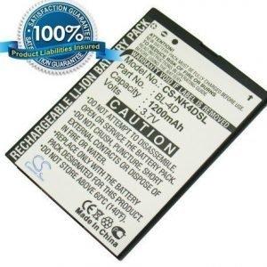 Nokia BL-4D yhteensopiva akku 950 mAh