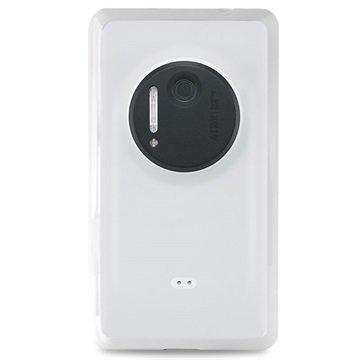 Nokia Lumia 1020 Puro Clear Silikonikotelo Valkoinen
