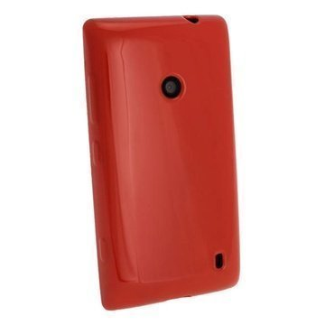 Nokia Lumia 520 Igadgitz Crystal TPU Kotelo Punainen