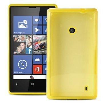 """Nokia Lumia 520 Lumia 525 Puro Läpinäkyvä SilikoniKotelo â"""" Keltainen"""