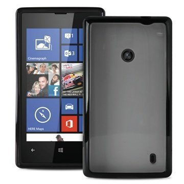 """Nokia Lumia 520 Lumia 525 Puro Läpinäkyvä SilikoniKotelo â"""" Musta"""
