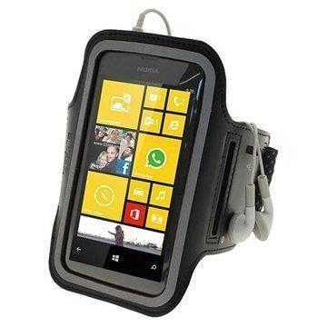 Nokia Lumia 520 iGadgitz Anti-Slip Neoprene Armband Black