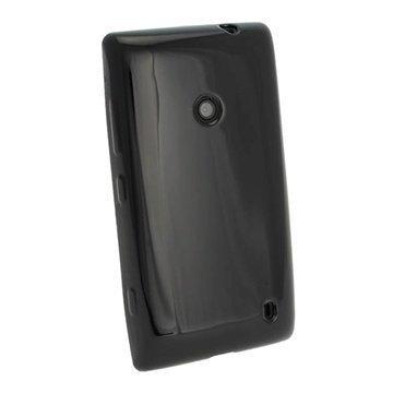 Nokia Lumia 520 iGadgitz Crystal TPU-Kotelo Musta