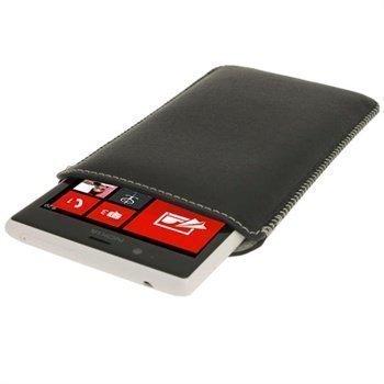 Nokia Lumia 520 iGadgitz Leather Case Black