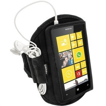 Nokia Lumia 520 iGadgitz Neoprene Sports Jogging Armband Black